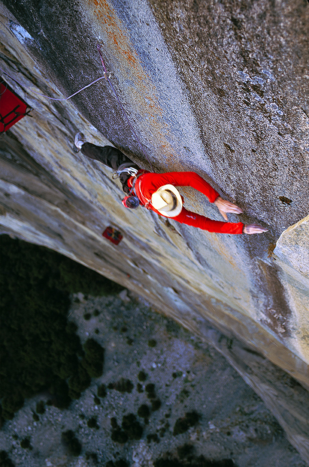 Leo Houlding on the Devil's Dyno pitch on the Prophet, El Capitan.