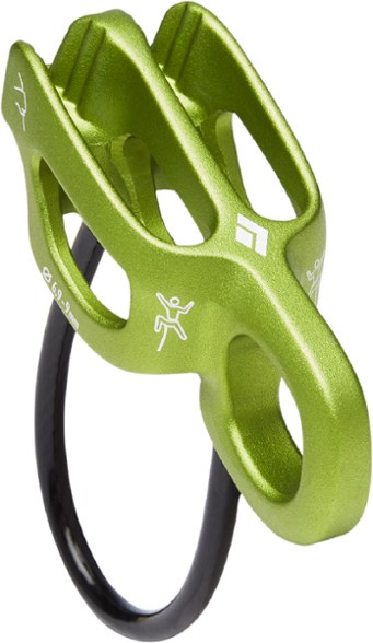 The Black Diamond ATC-Alpine Guide belay device.