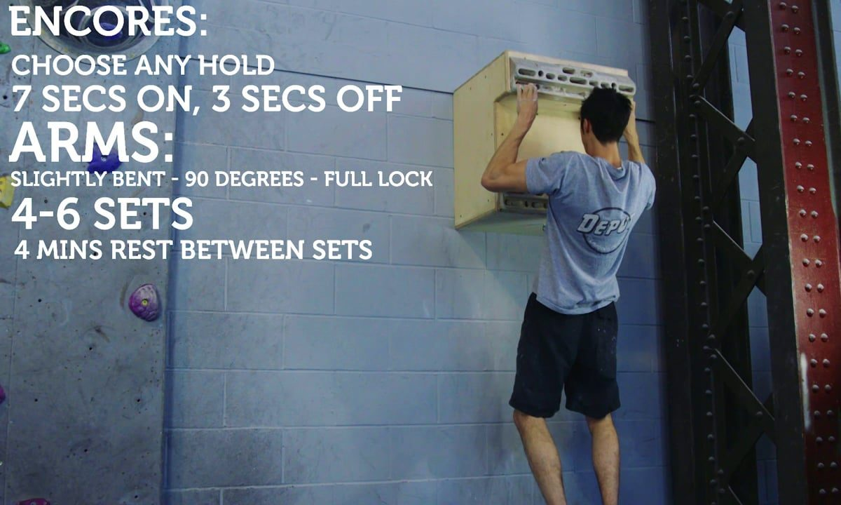 Hangboard Exercises - Repeaters, Encores and Assisted One-Arms