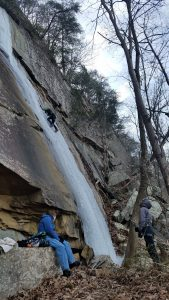Alli Hughes climbing in Chattanooga, Tennessee. Photo: Courtesy of Allison Hughes.