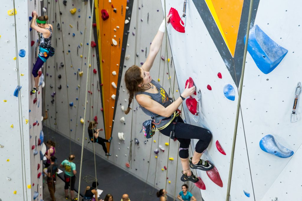 Climbers in First Ascent Climbing and Fitness, Avondale. Photo: Dave Hudson.