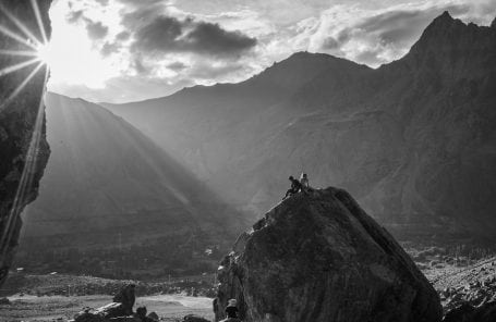 Bouldering in the Suru Valley, Zanskar, India