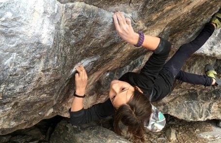 Cedar Pidgeon, 11 Years Old, Climbs V11