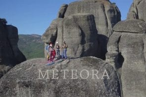 Climbing in Meteora, Greece