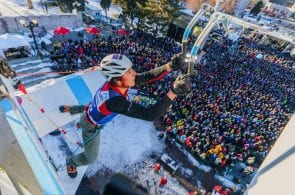 Weekend Whipper: Falling Sharp Things at the 2019 Ice Climbing World Cup Finals