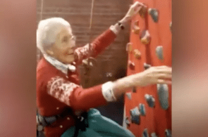 99-Year-Old Grandmother Tries Out Climbing