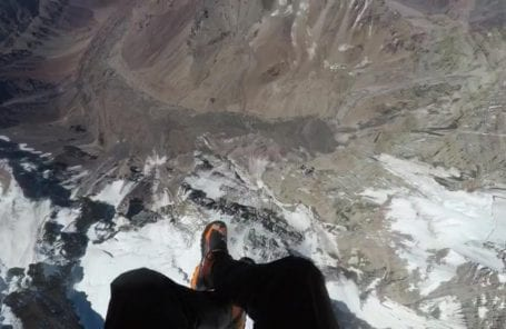 Two Climbers Paraglide From the Summit of Aconcagua