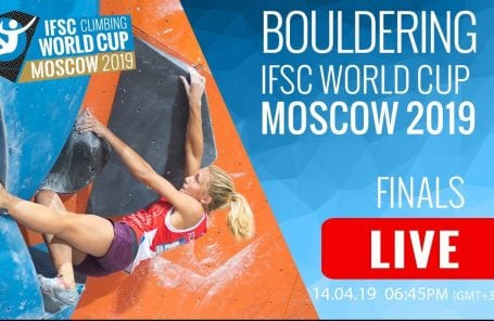 LIVESTREAM: 2019 Moscow Bouldering World Cup Finals
