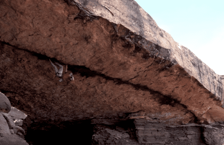 Randall and Whittaker Sending Roof Cracks in Canyonlands