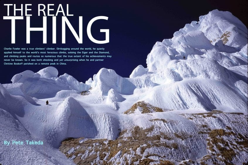 Charlie Fowler - American Alpinist