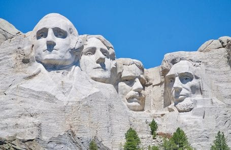 Mount Rushmore Sent By Barefoot Woman on Vacation… Almost