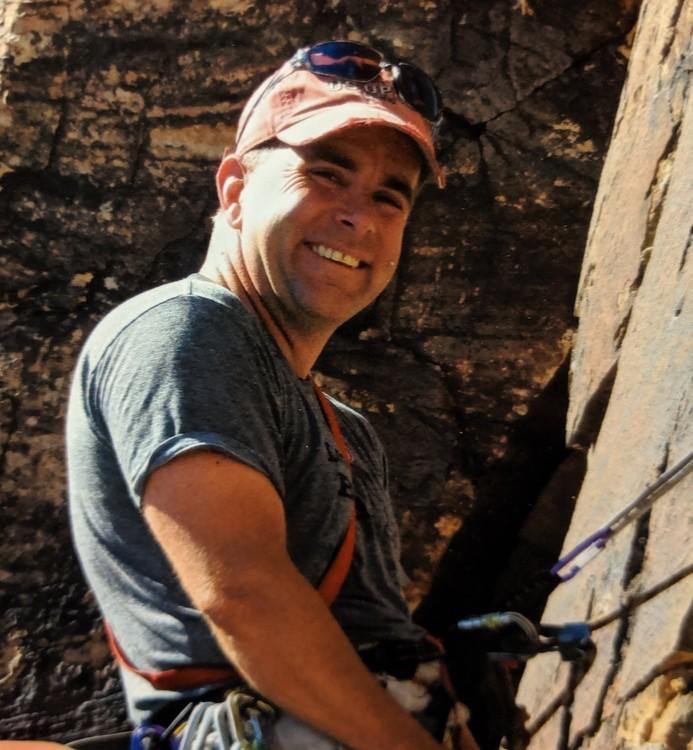 portrait of bob dergay who died climbing in eldorado canyon