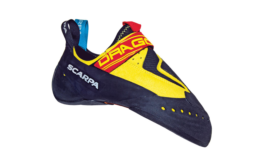 The Scarpa Drago is one of the best climbing shoes for sport climbers.