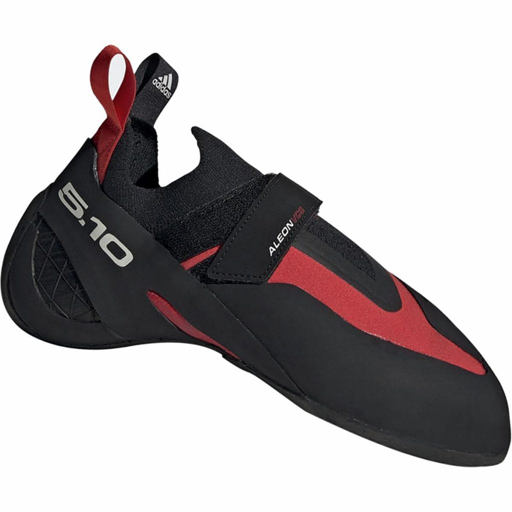 The Five Ten Aleon is one of the best climbing shoes for boulderers.