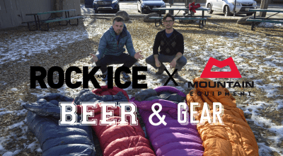 mountain equipment beer and gear