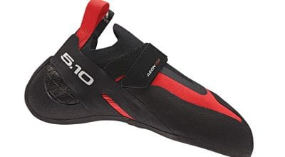 Five Ten Aleon climbing shoe.