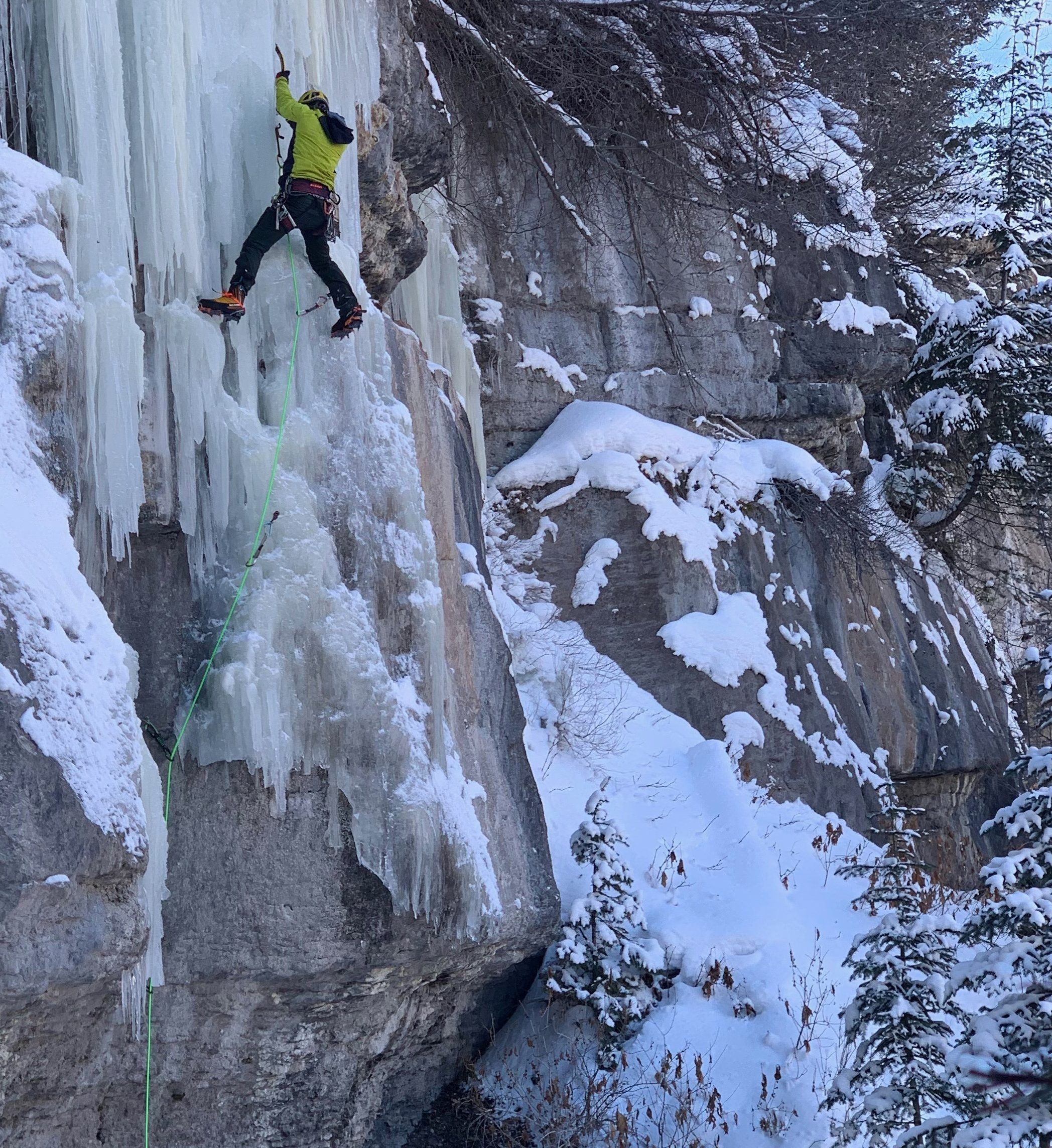 The author using the new Scarpa Phantom Tech in Vail, Colorado.