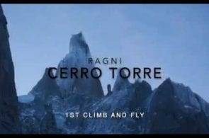 Footage of Fabian Buhl Climbing Cerro Torre and Paragliding Off