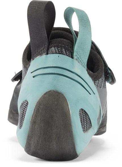 The heel on the Black Diamond Zone LV climbing shoe.