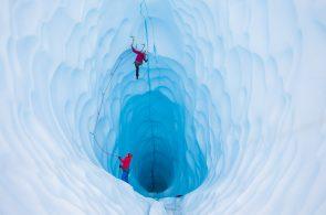 Glacier Ice Climbing in Alaska with Lucie Hrozová