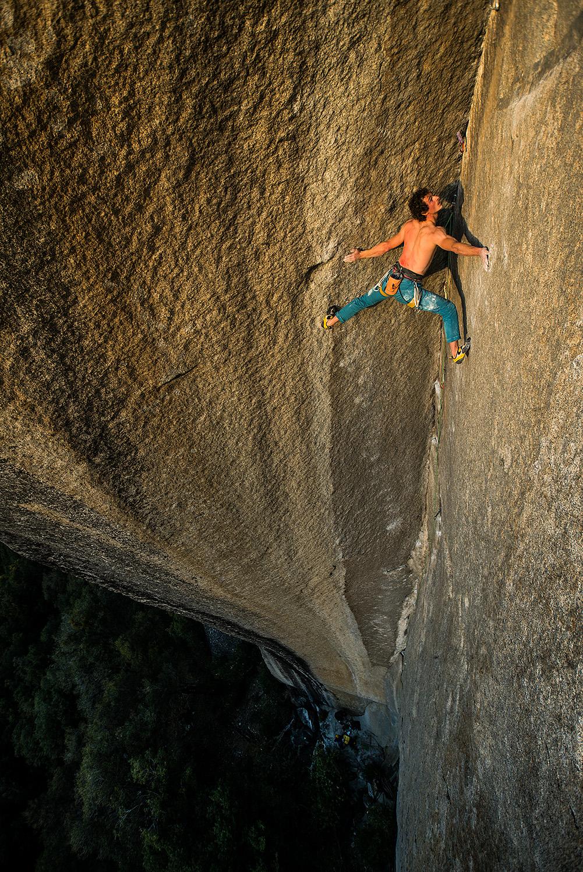Adam Ondra climbing Yosemite