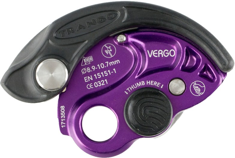 The Trango Vergo is an assisted braking belay device.
