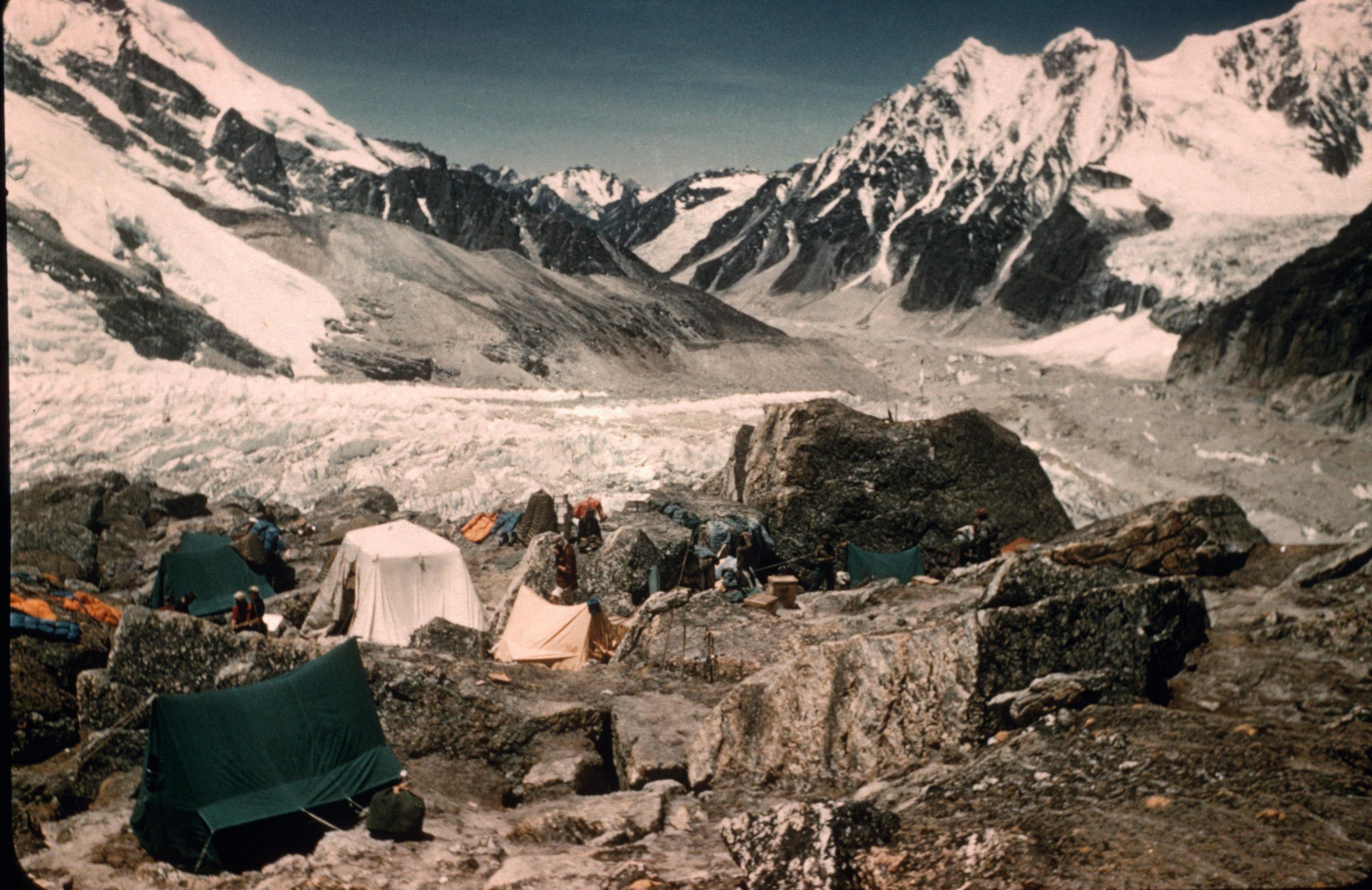 Base camp, Kanchenjunga, 1955.