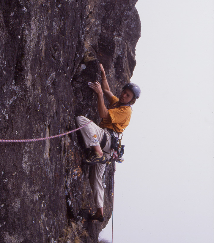climbing on the monks cowl.