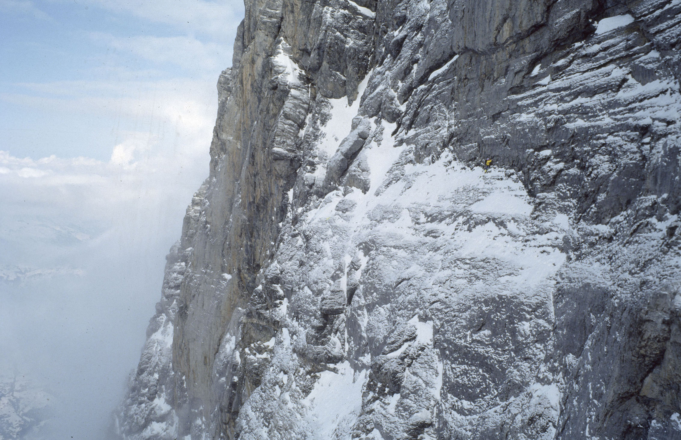 catherine destivelle on the eiger north face