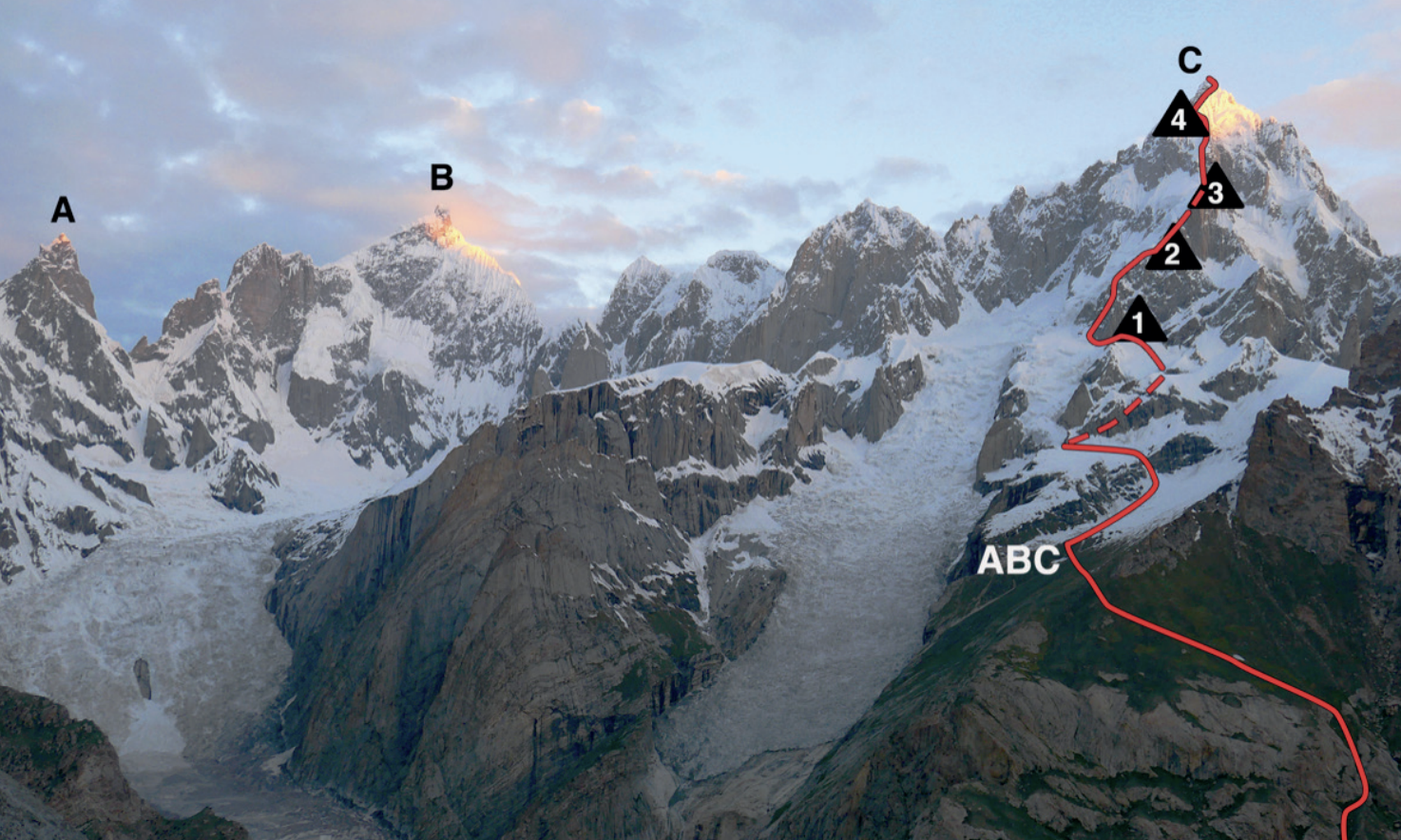 The first ascent of Link Sar is one of the climbs that will be honored at the 2020 Piolets d'Or.