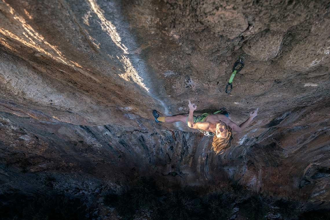 Illya Bakhmet-Smolensky climbing in Turkey. Photo: Ben Neilson.