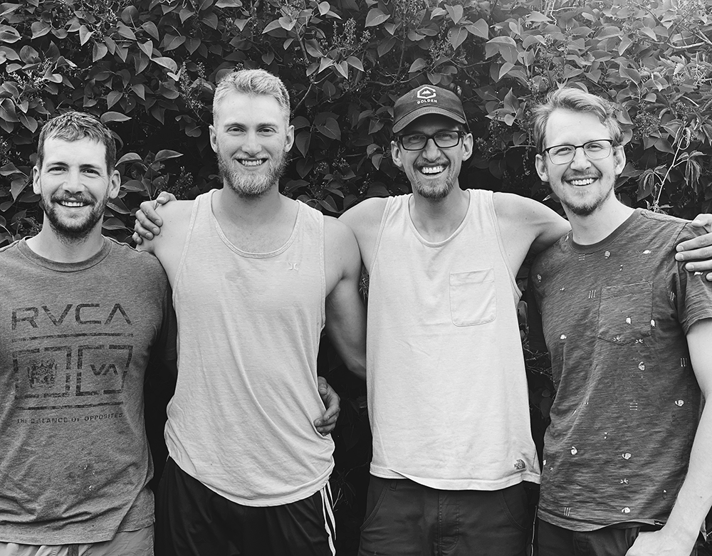 Dillon Blanksma (third from left) with his three brothers. Photo: Rebecca Blanksma.