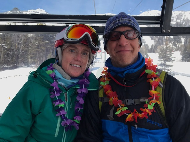 Rhea Dodd and her life and mountain-adventure partner, Gary Kofinas of Jackson, Wyoming, who cared for her in her long illness. Photo: Emilie Kelly.