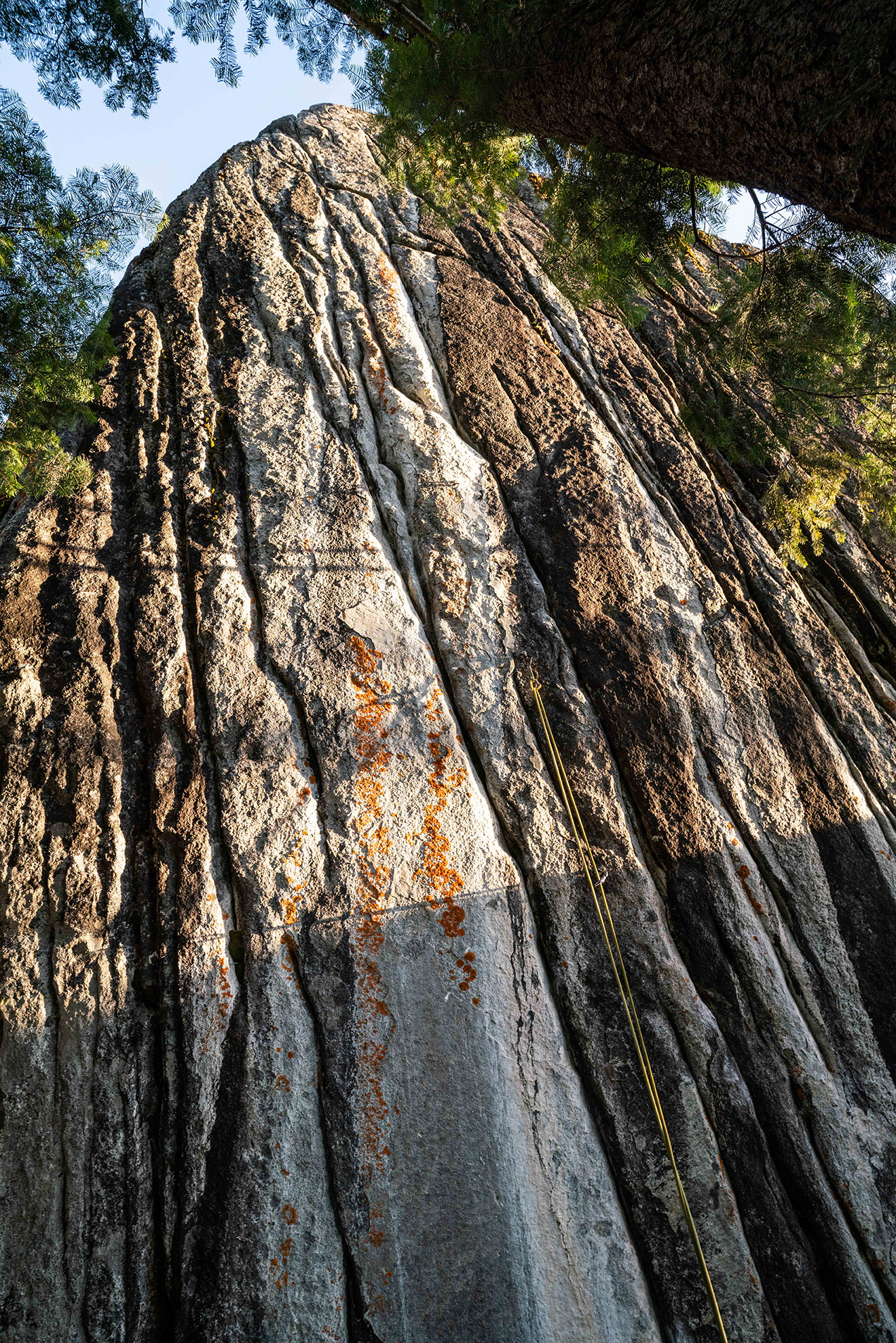 The cliff where Traversi bolted Empath. Photo: Carlo Traversi.