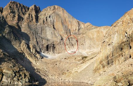 200-Foot Fall on North Chimney, Longs Peak
