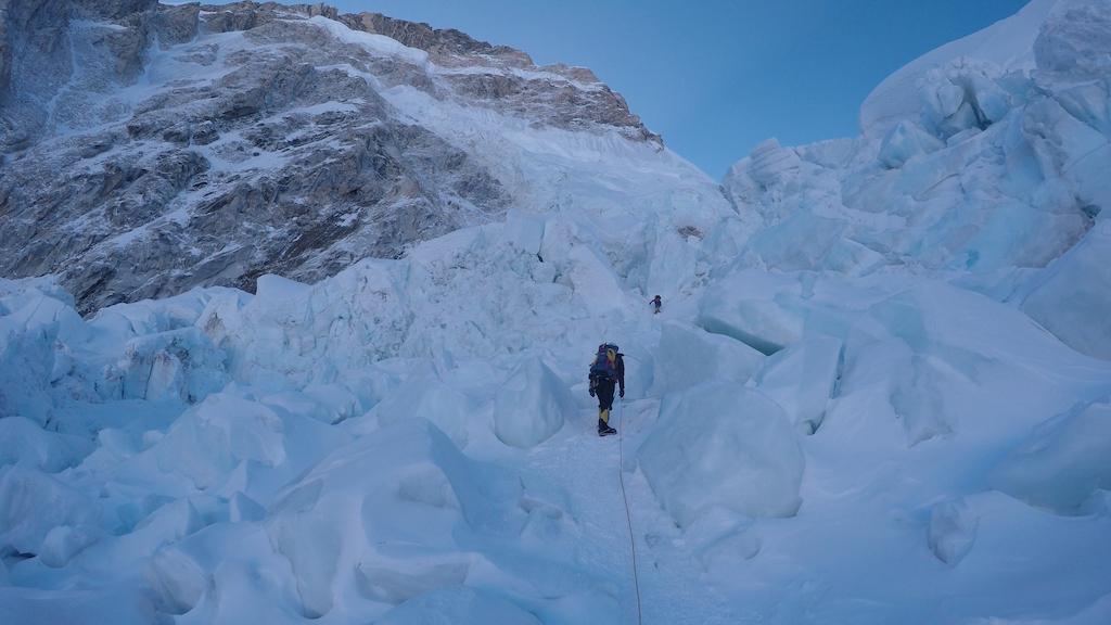 PK Sherpa in the icefall at around 19,000 feet. Photo: Jim Davidson.