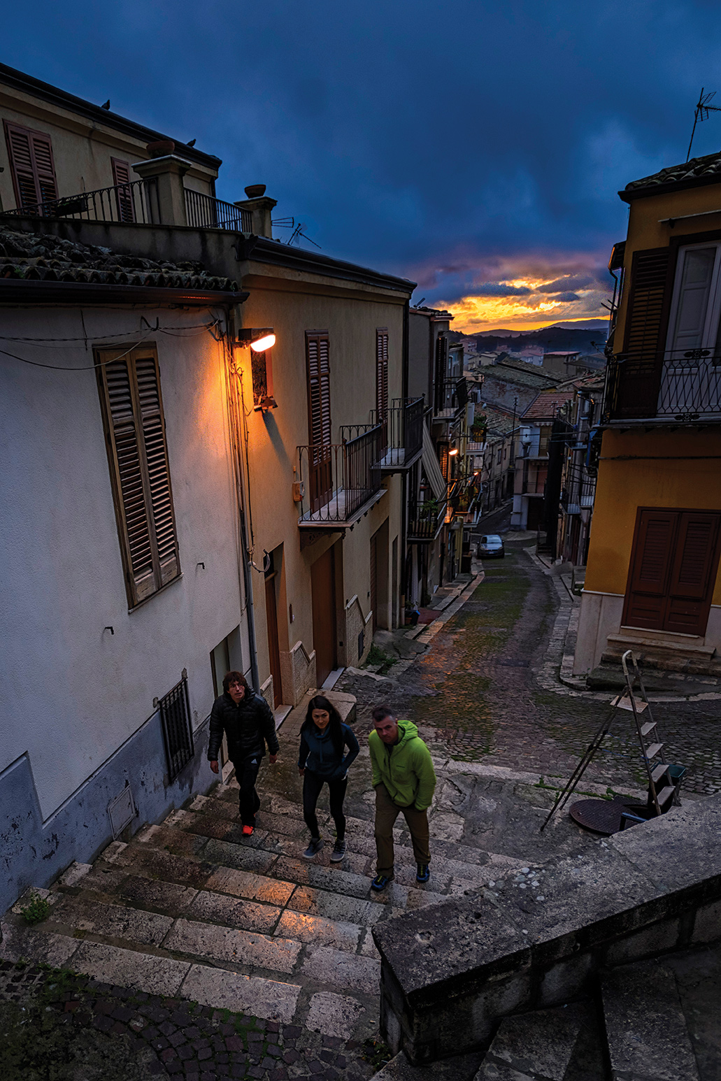A visit to Corleone, the birthplace of the main character in The Godfather, Marlon Brando, was essential to the trip: romantic streets, incredible food and great cappucinos. Photo: Jeff Rueppel.
