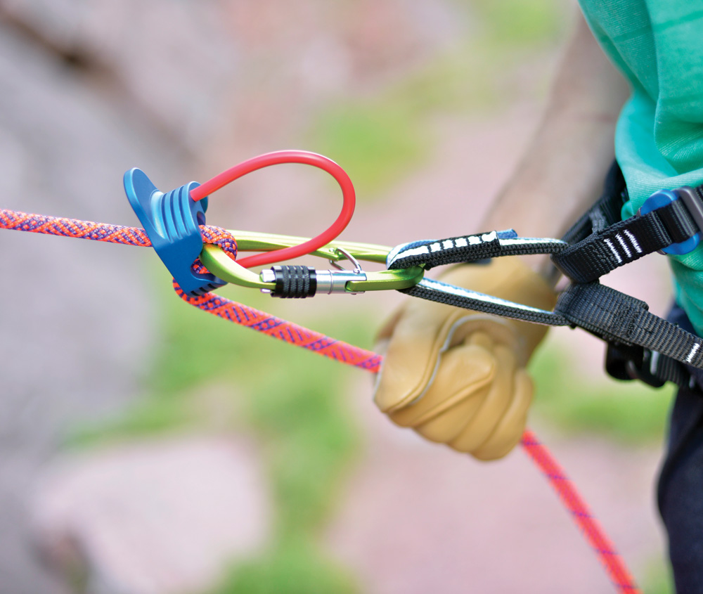 The belay loop, Powick says, is designed for, you guessed it, belaying. This harness even comes with two!