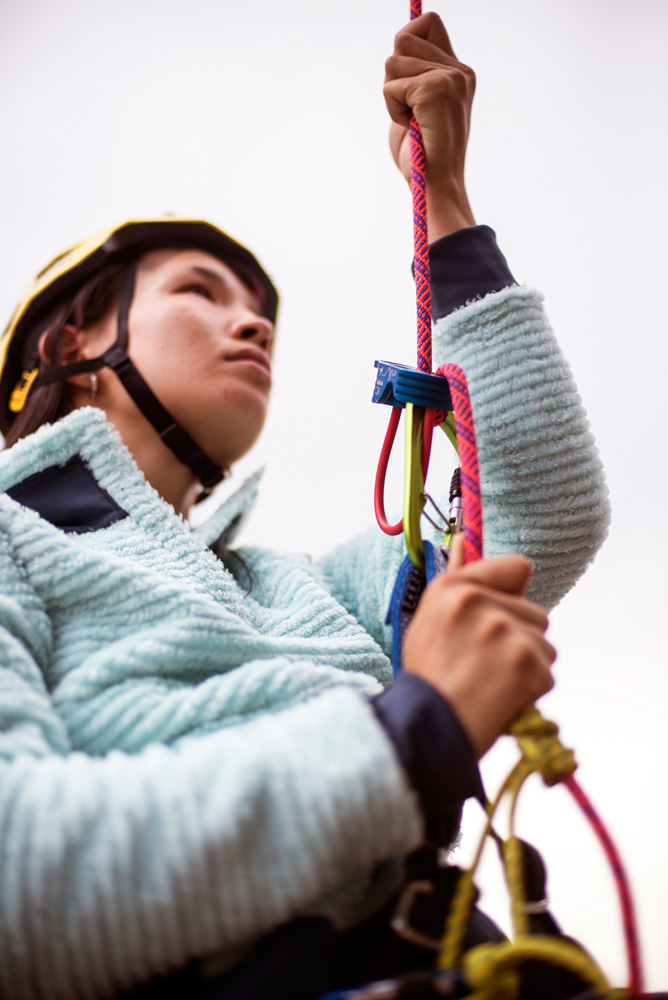 When you learn how to rappel, you should always use a back up like a prussik.
