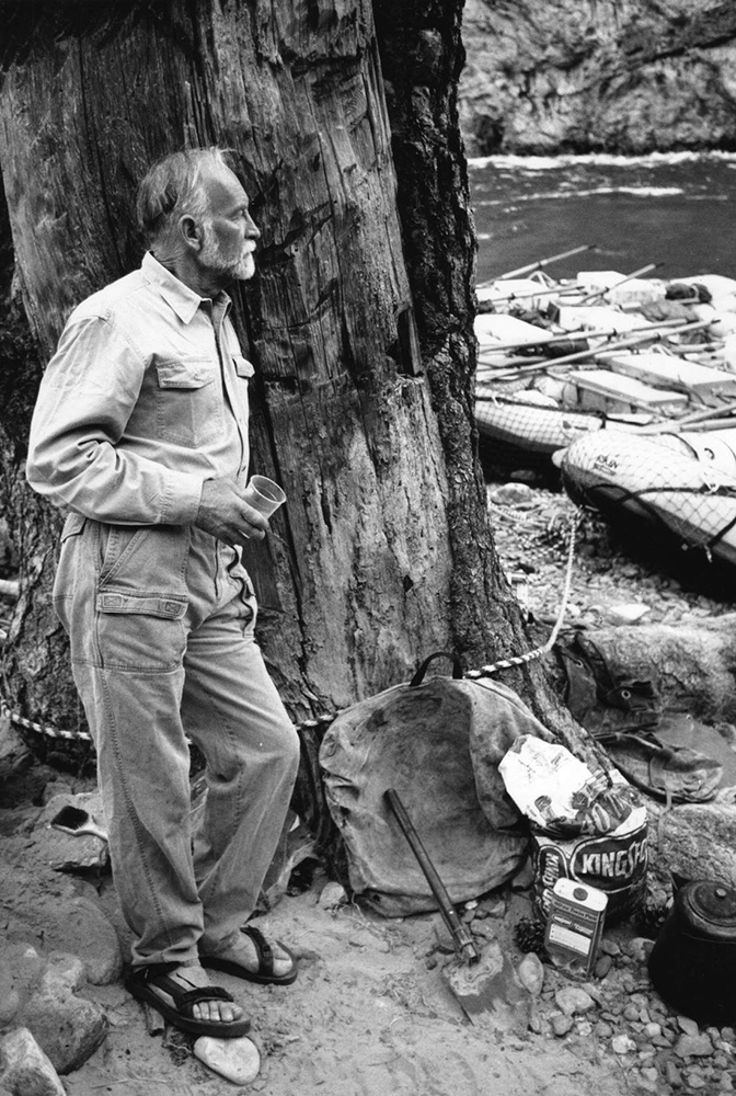 Royal Robbins at the Middle Fork of the Salmon River in Idaho. He guided Royal Robbins employees on the classic, seven-day, self-supported kayak trip on an annual company retreat. Photo: Robbins Family