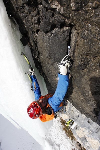 """Finding gear on possibly the world&#39;s hardest traditional mixed climb. <em>Senza Piombo</em> (M10 WI5 140m).  Photo by Klaus Kranbitter. """" /></p> <p>The Austrians Albert Leichtfried and Benedikt Purner have established what is possibly the world's hardest traditional mixed climb. <em>Senza Piombo</em> is located in Val Lunga, in the Dolomites of northern Italy and is a naturally protected five-pitch M10.</p> <div><span style="""