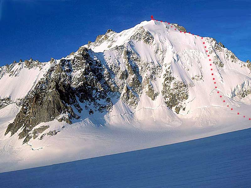 The north face of the Aiguille d'Argentiere.
