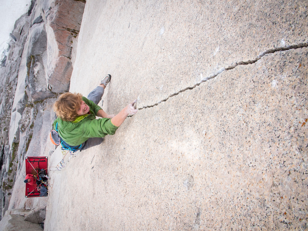 """Will Stanhope climbing the <em>Tom Eagan Memorial Route</em> on the Snowpatch Spire, the Bugaboos, British Columbia, Canada. Photo: Kyle Berkompas / REEL ROCK."""" title=""""Will Stanhope climbing the <em>Tom Eagan Memorial Route</em> on the Snowpatch Spire, the Bugaboos, British Columbia, Canada. Photo: Kyle Berkompas / REEL ROCK."""" style=""""float: right; margin: 0px 0px 10px 10px;""""></p> <p style="""