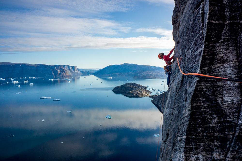 Sean Villanueva O'Driscoll climbing on Baffin Island, Canada. Photo: Ben Ditto / REEL ROCK.