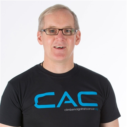 John Ellison, founder of Climbers Against Cancer. <br />Photo: Climbers Against Cancer.