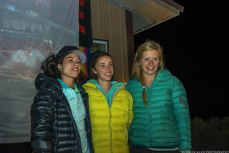 The women's winners. Williams, Wurm and Leslie-Wujastyk.