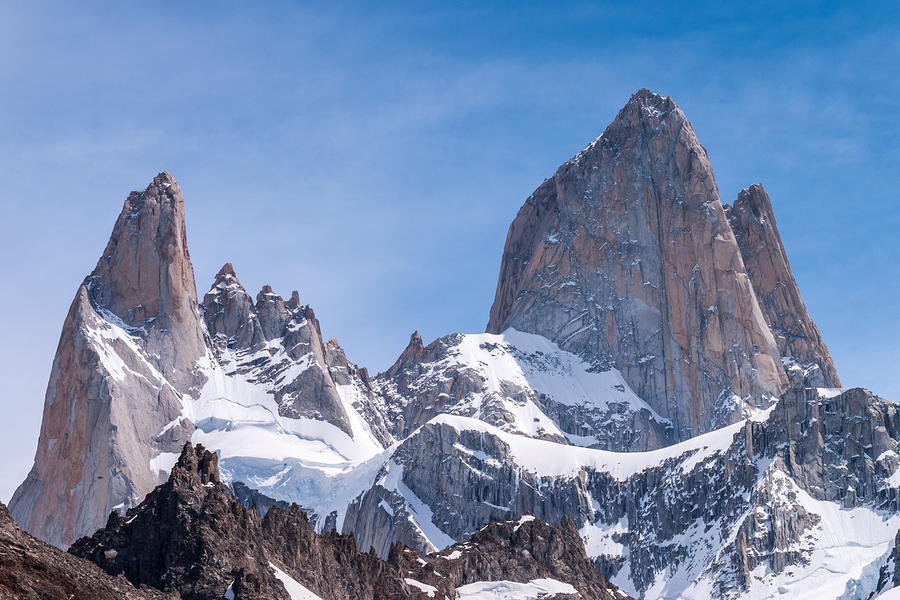 Fitz Roy in Patagoina, where American alpinist Chad Kellogg was killed by rockfall.