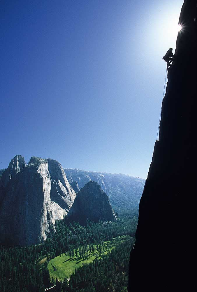 The <em>East Buttress</em> of El Cap, Yosemite. Photo by Jim Thornburg.