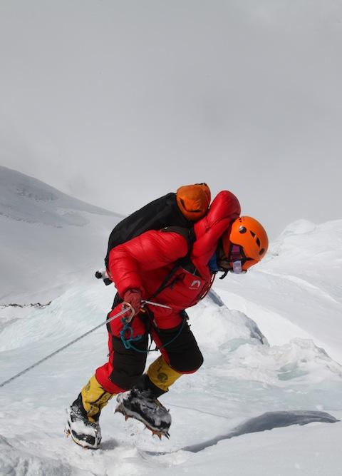 Descending Annapurna. Photo: Mingma Sherpa.