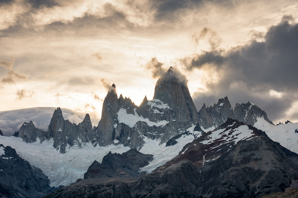 The Fitz Roy massif skyline, Patagonia, Argentina. Photo: Austin Siadak.